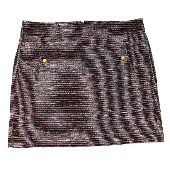 LOFT Dresses & Skirts - $79 Vintage 90s Tweed Rainbow Loft Skirt 12 Large